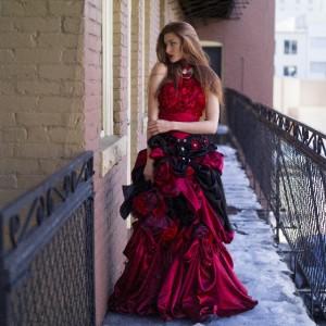 赤の可愛いドレス